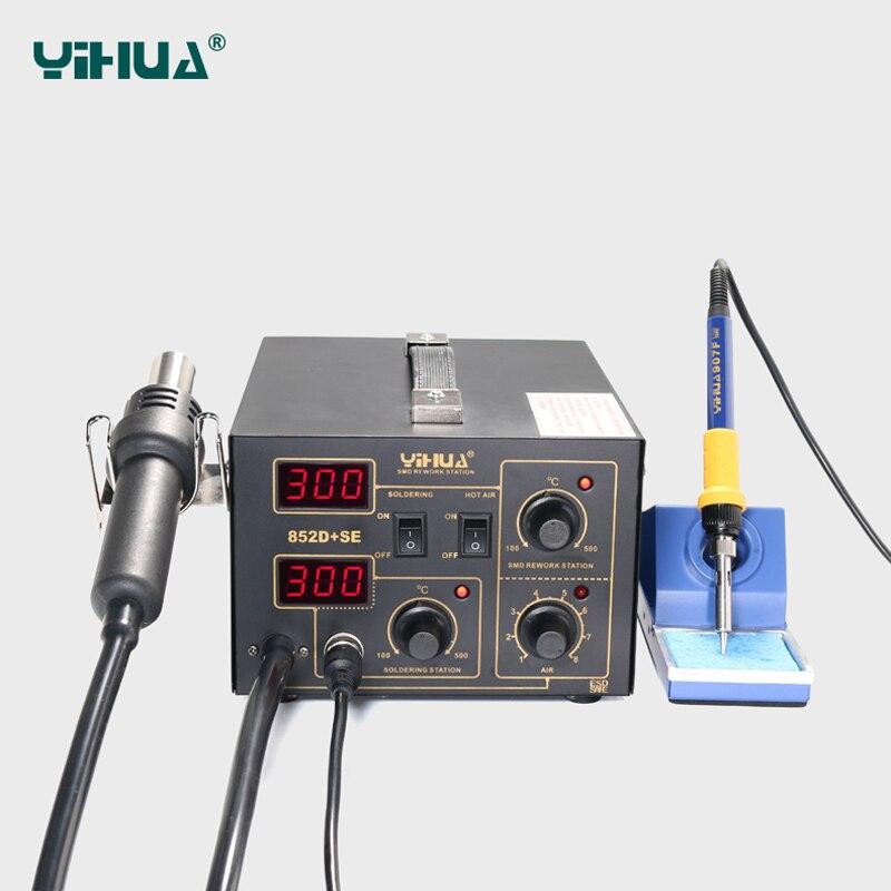 Prise EU YIHUA 852D + SE Station de soudure de pompe à diaphragme Air chaud importé Station de soudure de chauffage - 2