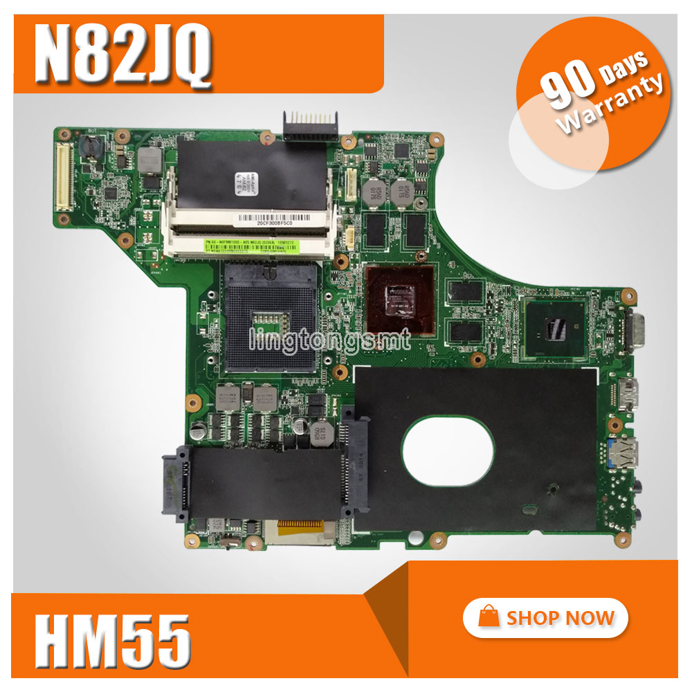 N82JQ Laptop motherboard HM55 for asus N82J N82JV N82JA N82JQ Mainboard notebook mbx 224 m960 laptop motherboard suitable for sony vpceb notebook pc mainboard a1771575a a1771577a hm55 available new