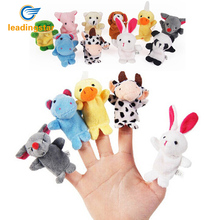 LeadingStar 10pcs/set Finger Puppet Hot Sale Cartoon Biological Animal Finger Puppet Plush Toys Child Baby Favor Dolls Boys