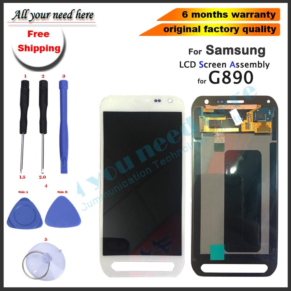 Adesivo + 100% testato al 5.1 'di Ricambio Per Samsung Galaxy S6 attivo G890 G890A LCD Touch Screen Digitizer Assembly con strumenti