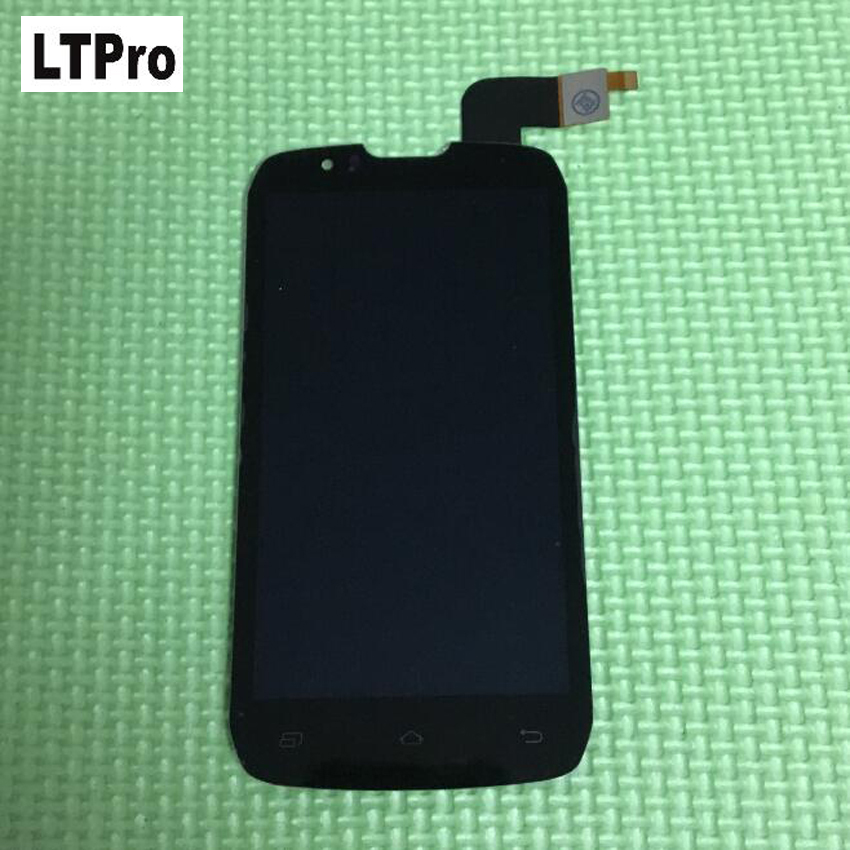 LTPro 100% GOOD Working Black LCD Display Touch Screen Digitizer Assembly For <font><b>DNS</b></font> <font><b>S4502</b></font> 4502 S4502M Mobile Phone Repair Parts image