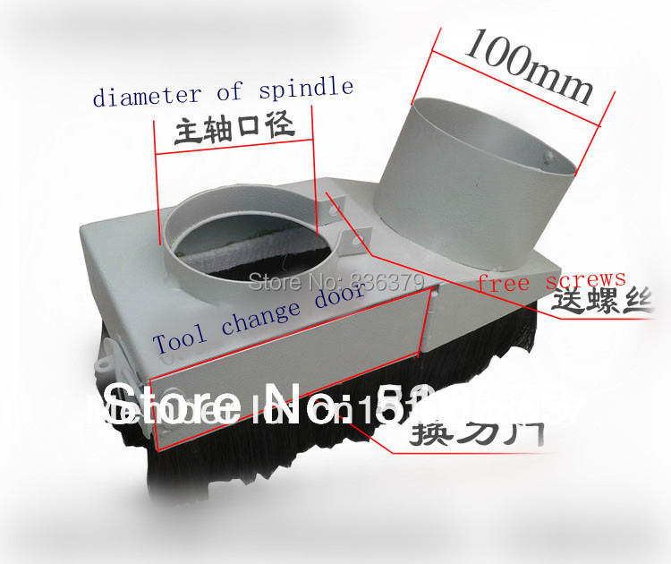 Diameter 90mm Vacuum Cleaner Engraving machine Dust Cover for CNC Router and spindle motor