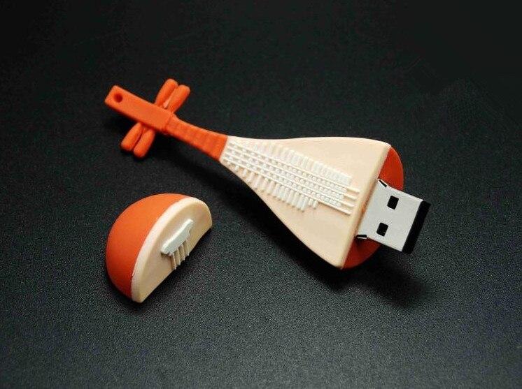 Chinese musical lute/pipa USB flash pen drive Memory Stick 4g 8g 16g 32g 64g Thumb/Car key/Pendrive U Disk/creative Gift S699
