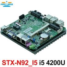 Безвентиляторный двойной гигабитный Ethernet Intel Haswell-U i5 4200U i5 4210Y cpu nano материнская плата для intel nuc pc 12 V блок питания