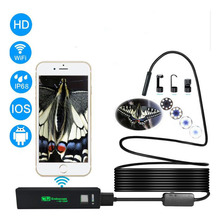 Wifi Endoscope Camera For Android / IOS 8mm 1200P Endoscope Waterproof Hard Cable Pipe Inspection Mini Endoscope Camera kerui wifi endoscope camera hd 1200p 8mm waterproof soft hard cable inspection mini camera for ios android windows endoscope