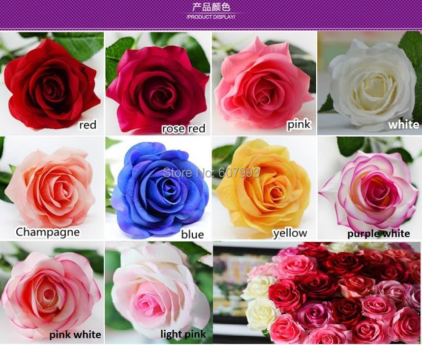 Moisturizing wet real touch rose latex artificial flower home moisturizing wet real touch rose latex artificial flower home decoration high simulation rose 44cm high 7 colours option in artificial dried flowers mightylinksfo