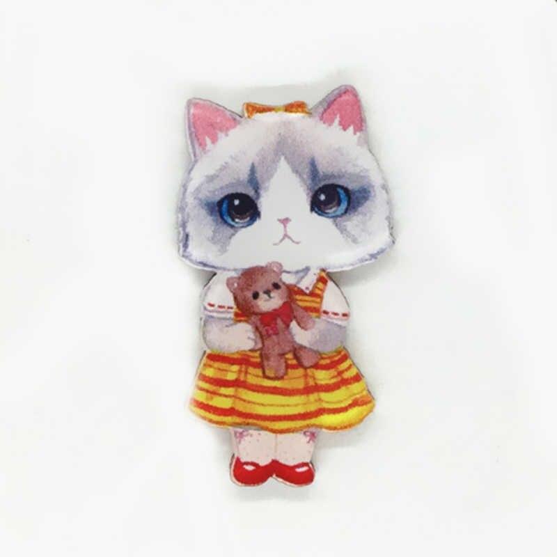 LNRRABC Moda Karikatür Hayvan Kedi Emaye Broş Kadınlar Için Broş Takı DIY Başörtüsü Yaka Iğneler Giyim Süsleme