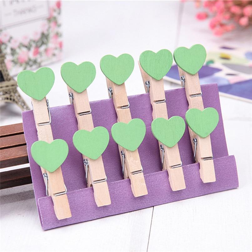 10pcs Lot Mini Clothespins Wooden Decorative Clothes Pegs Diy