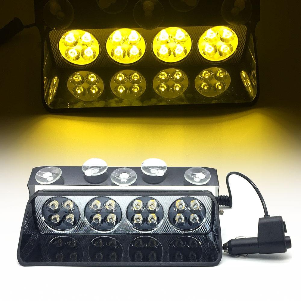 12V S8/S16 Viper LED Car Windshield Strobe Light Car Flashing Signal Emergency Fireman Police Beacon Led Flash Warning Light