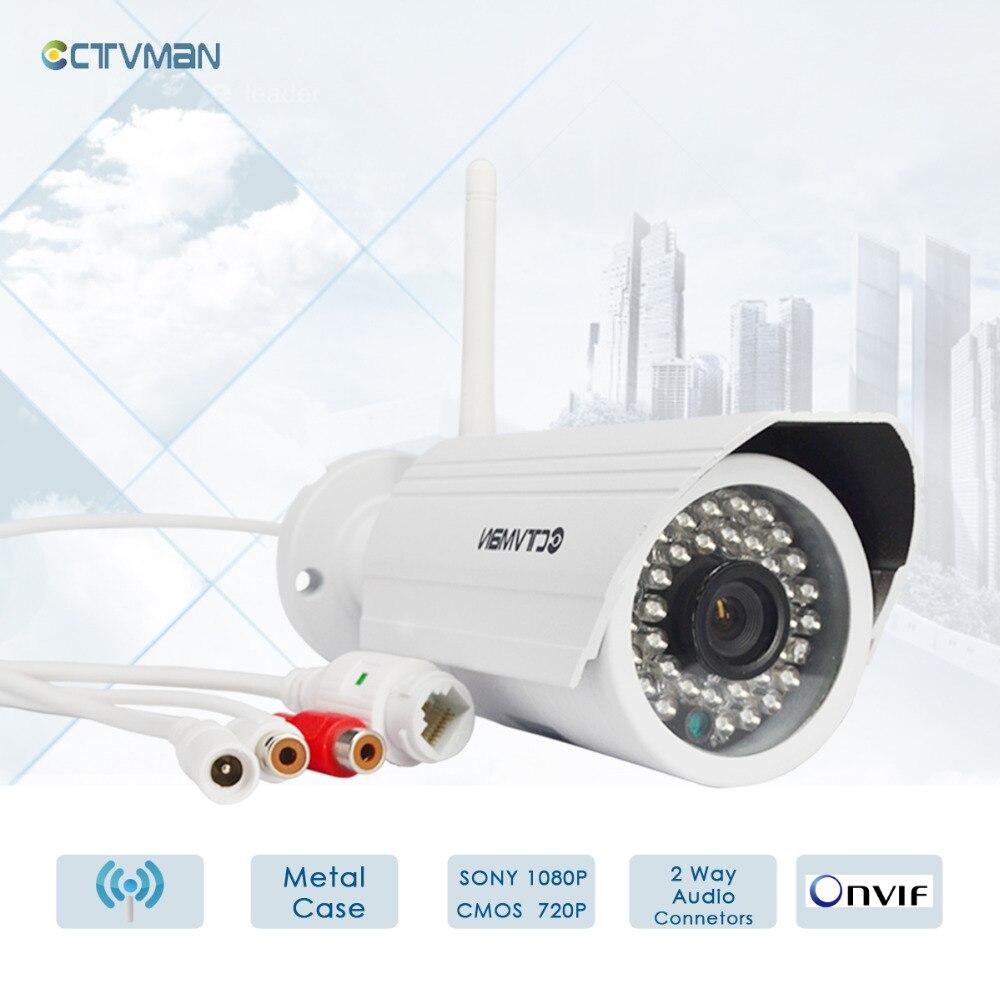 CTVMAN Security IP Cameras 720P 1080P Network Wireless Waterproof IP Camera Wi-fi CCTV SD Card Slot Video Surveillance veskys v25w 720p 1 0 mp hd wireless ptz ip network camera w wi fi sd slot mic black