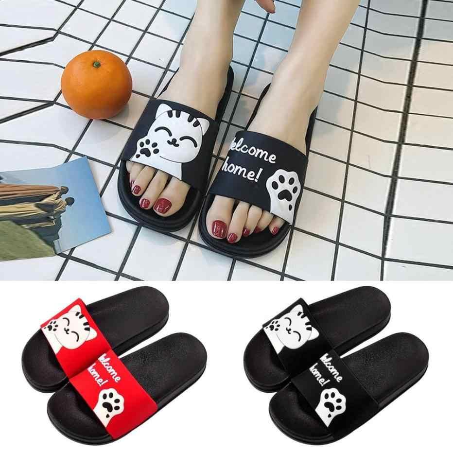 cd3c7feb4 Унисекс Для мужчин Для женщин летние домашние Слиперы на нескользящей  подошве Тапочки с пандой пляжная обувь