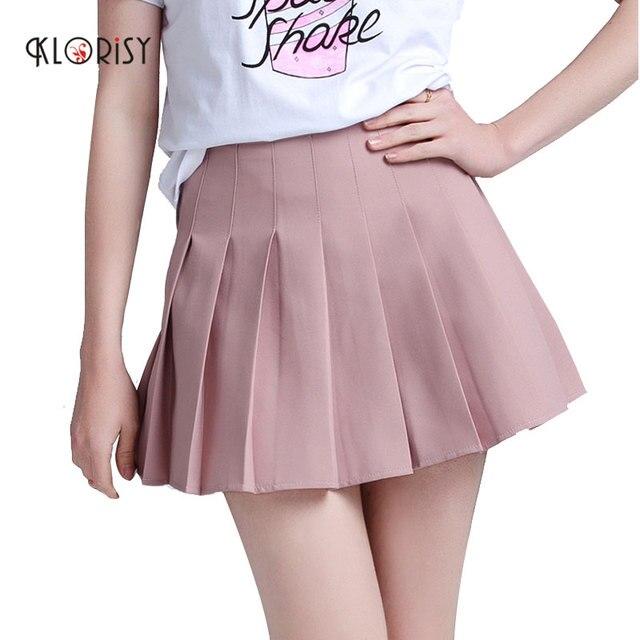 2ba07ee87 € 13.51 |Nueva moda mini Falda plisada 2018 verano kawaii chica Rosa faldas  corto falda forro clorisy en Faldas de La ropa de las mujeres en ...