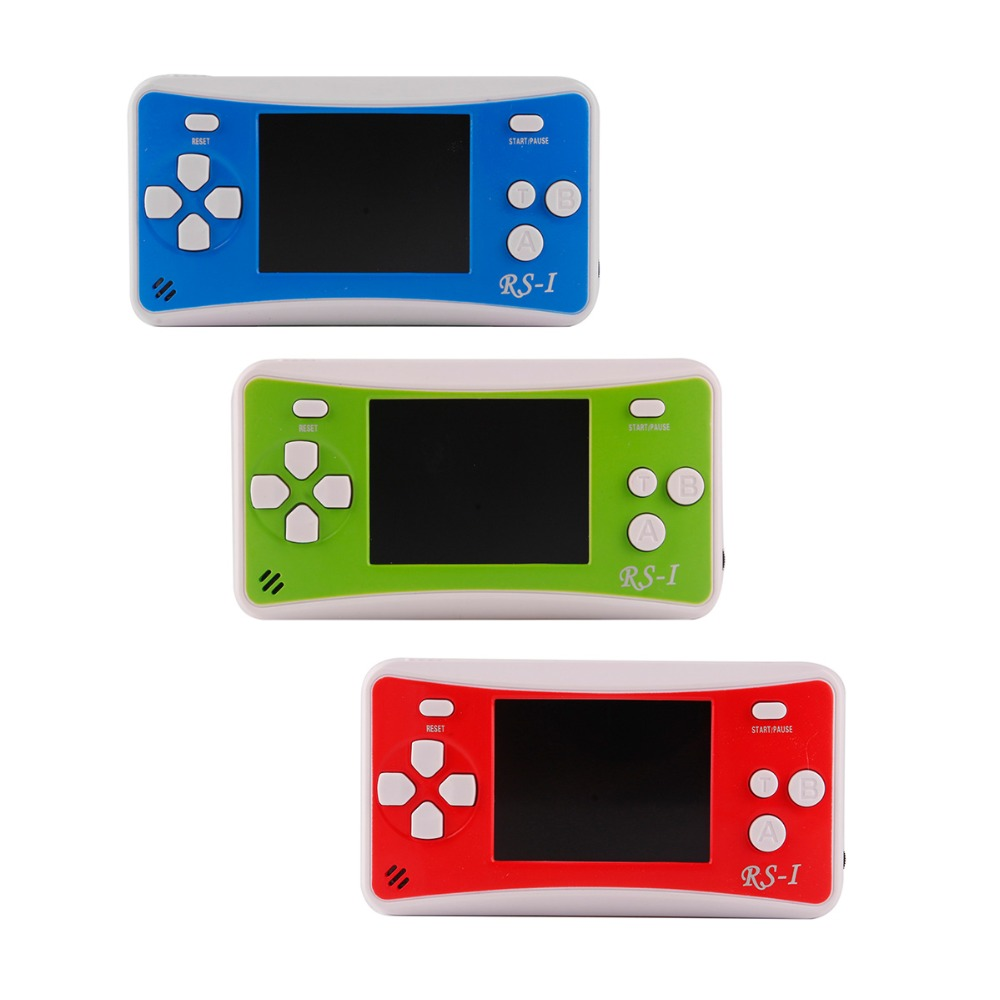 RS-1 Handheld Game Player Child Classic Game Machine 2.5 inch LCD Portable Video Game Console with 76 Games for 8bit Games цена 2017