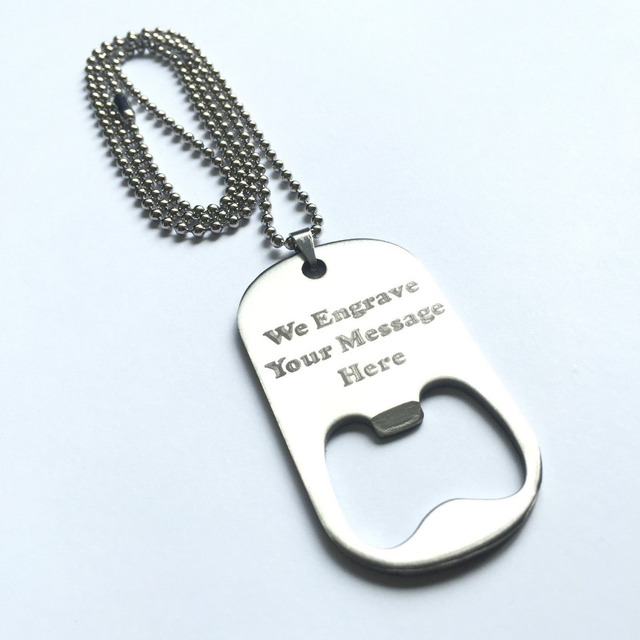 high quality custom stainless steel bottle opener dog tag cheap