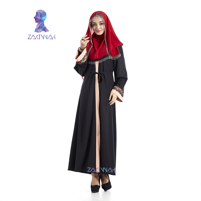 High Quality Lace Black Abaya Muslim Dress For Women Cardigan Robes Arab Kaftan Abaya Islamic Clothing