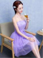 Cheap Lavender Short A Line Tulle Graduation Dresses Off The Shoulder Wedding Party Gowns Homecoming Dresses
