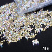 size ss2-ss19 Crystal AB glass pointback chaton Nairl Art Crystals rhinestones round shape decoration use 1400pcs per pack