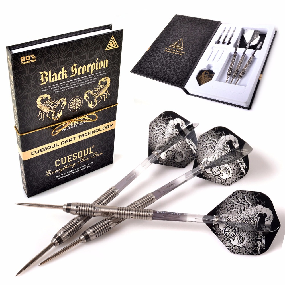 CUESOUL Christmas Gift Black Scorpion Golden 22g/24g/26g Tungsten Steel Tip Dart cuesoul christmas gift black scorpion 22g 24g 26g blue tungsten steel tip dart