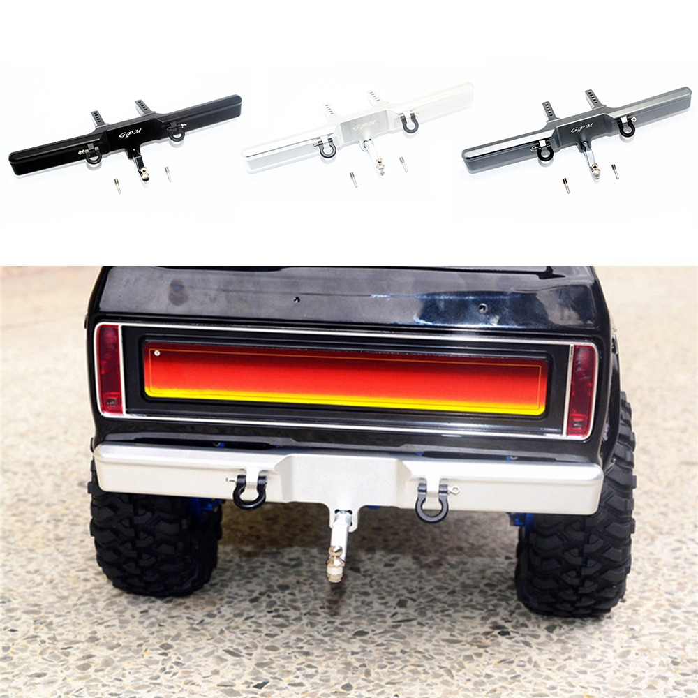 Metal Front / Rear Bumper Set For Traxxas TRX4 Ford Bronco 1/10 RC Car Upgrade Parts With U-hook Tail Hook Accessories Kit