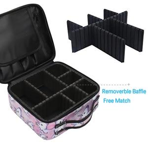 Image 2 - Deanfun ユニコーン化粧ケース多機能化粧品バッグトラベルオーガナイザー列車ケース調節可能なディバイダーで 16001