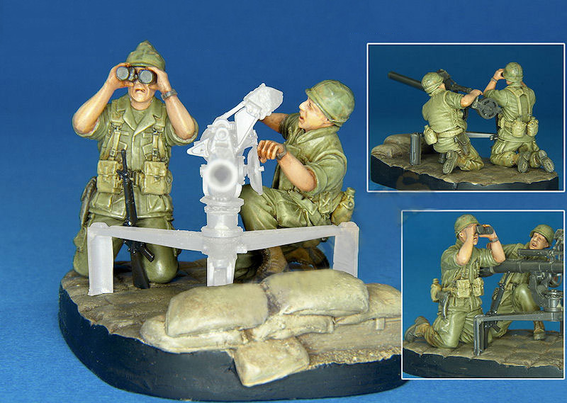 Assembly Unpainted Scale <font><b>1</b></font>/<font><b>35</b></font> U.S.Army Crew <font><b>Vietnam</b></font> <font><b>war</b></font> soldier without base <font><b>figure</b></font> Historical <font><b>Resin</b></font> Model image