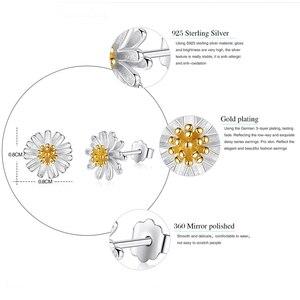 Image 2 - BELAWANG Genuine 100% 925 Sterling Silver Jewelry Sets For Women Girls Daisy Flower White Enamel Wedding Engagement Jewelry Sets