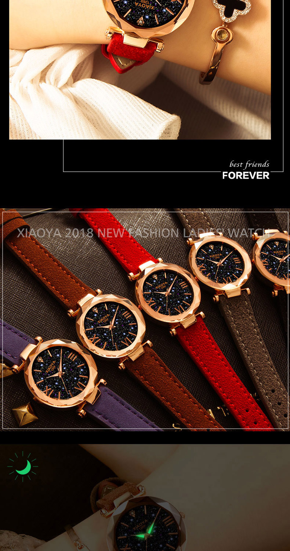 2018 Starry Sky Watch Women Minimalist Top Brand Luxury Wrist Watch For Ladies Female Clock Damski Montre Femme (3)