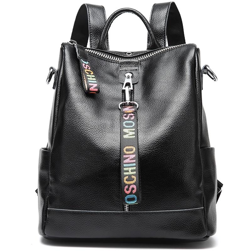 Backpack Female New Women Genuine 2019 100 Leather Bag Anti Theft High Quality Soft back Urban