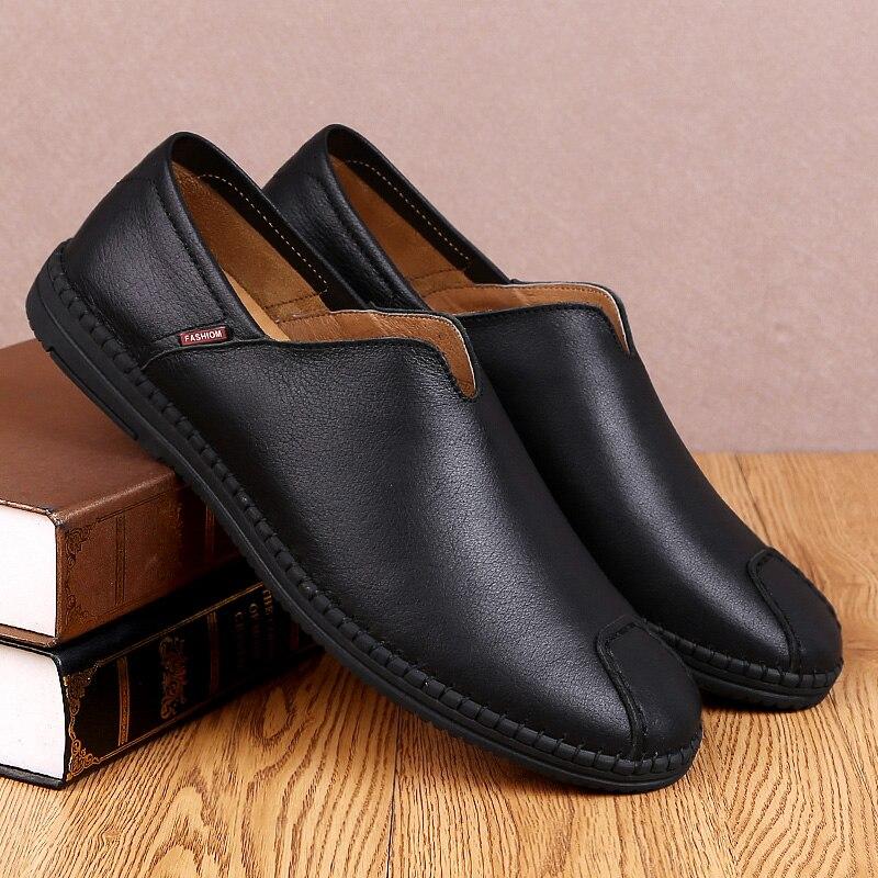 Luxe Marque Hommes Mocassins De Mode Cuir Véritable Designer brown Appartements Zapatos Black Sur Glissement K3 Chaussures En Hombre UY0WpqAY