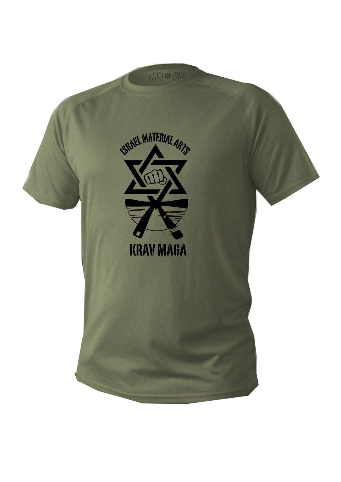 Krav Maga Israel Israeli jew martial self  defense art train symbol logo t-shirt