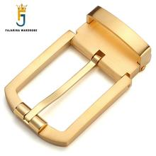 FAJARINA New Arrival Unique Design Sliver & Gold Solid Brass Buckle Only for 3.3cm Width Belt Fast Delivery Free Shipping BK004