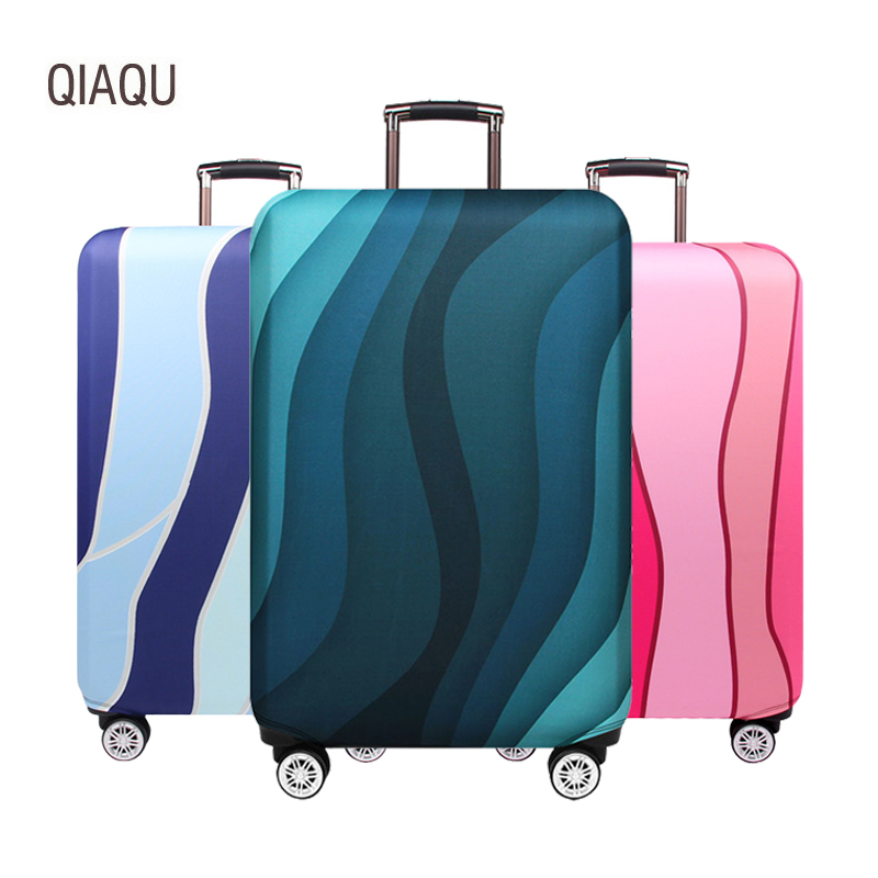 QIAQU Luggage-Case Protect-Cover Travel-Accessories Stripe Elastic Thick 18-32inch Wavy