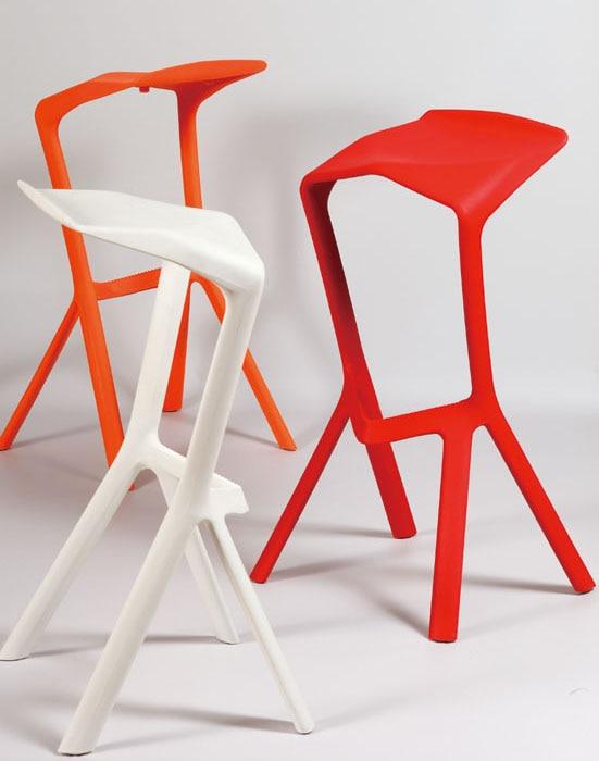 Modern Design Plastic Stackable Miura bar Stool Popular Bar Chair Cafe chair drinking stool popular kitchen room counter stool