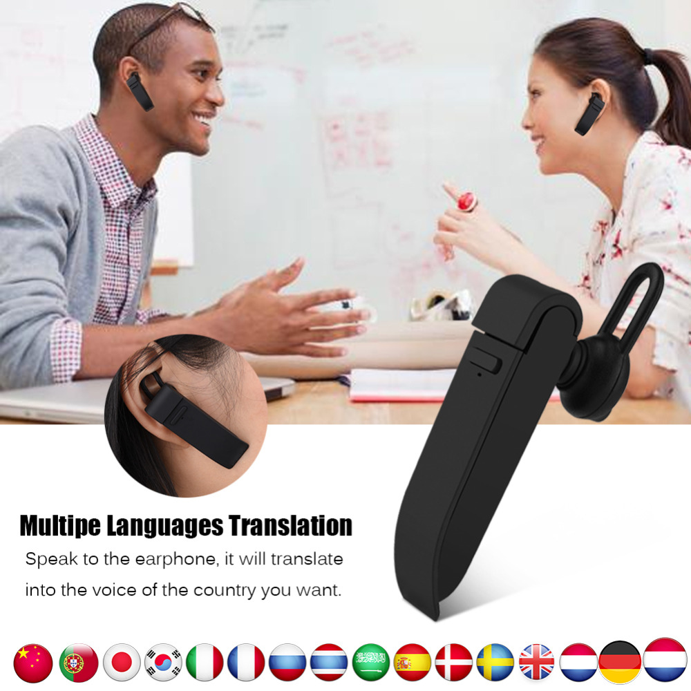 Multi-Language Instant Translator Voice Translator Wireless Bluetooth Earphone Headphones Traductor Simultaneo Russian Language