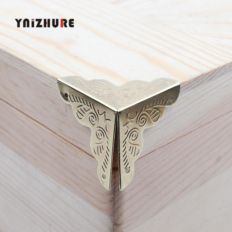Case Box Corners For Furniture Decor Triangle Rattan Carved 3.6x2.5cm,8pcs