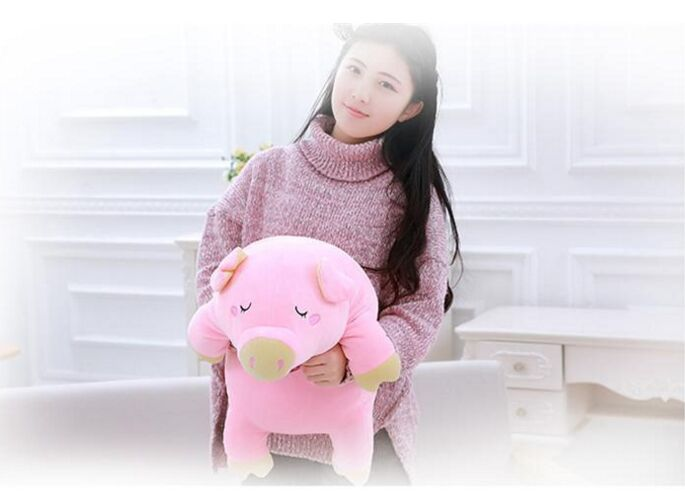 small cute plush pig toy soft pink lying pig doll gift about 55cm 2628