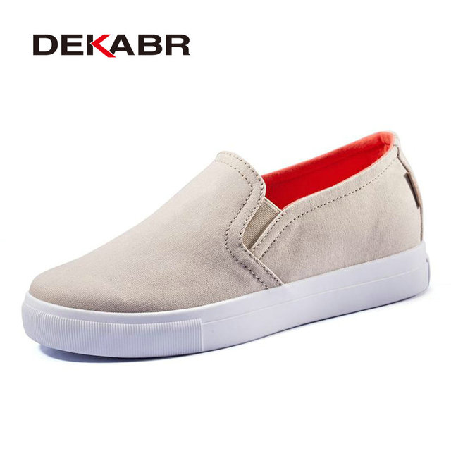 DEKABR Women Fashion Loafers Casual Shoes 2017 Candy Color Canvas Walking Flats Chaussure Femme Ladies Sapatos Scarpe Donna