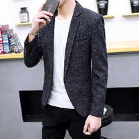 COHO 2019 men leisure blazer In the fall of the new trend of cultivate one's morality small blazer Handsome fashion