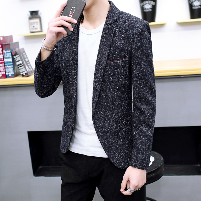 COHO 2020 Men Leisure Blazer In The Fall Of The New Trend Of Cultivate One's Morality Small Blazer Handsome Fashion