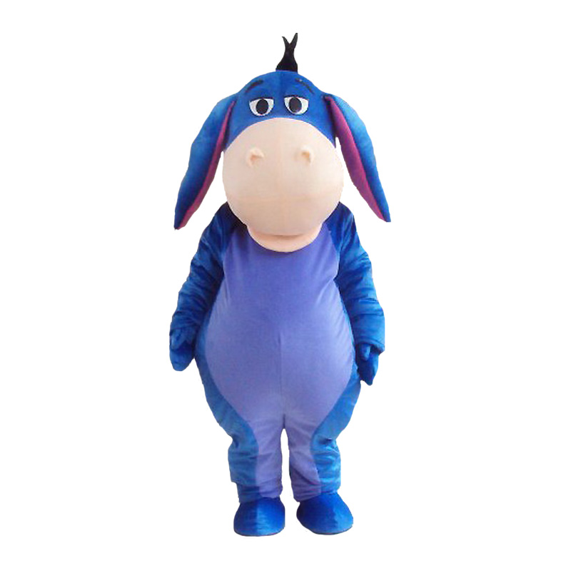 Adult Suit Size Eeyore Donkey Mascot Costume Cosplay Anime Christmas Halloween Birthday Party Show Costume Free Shipping