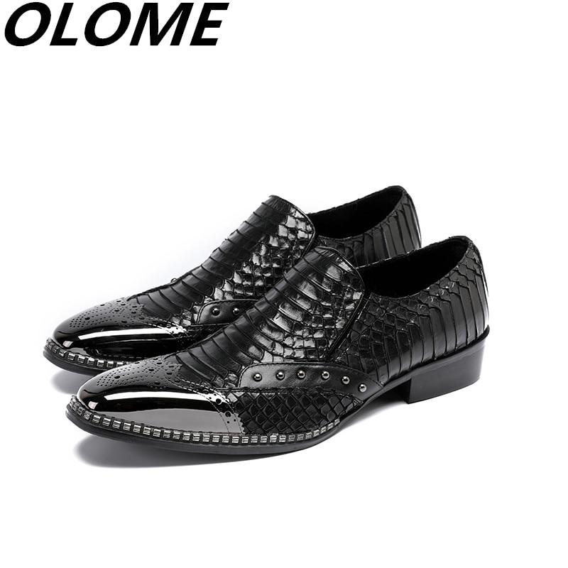Mens Patent Leather Black Shoes Low