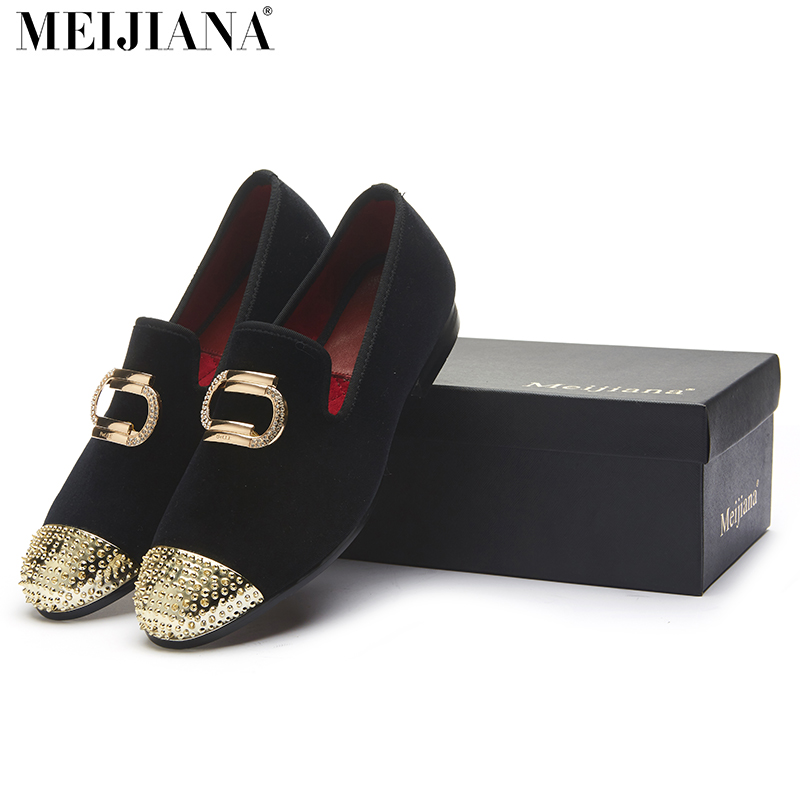 ФОТО men loafers Metal Shoes Top and Back Men Shoes Fashion Men Velvet Loafers Shoes  Casual Dress Shoes Men Flats