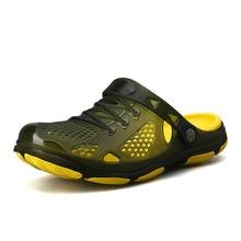 2019 Crocks Hole Shoes Croc Men Green Garden Casual Rubber Clogs For Men Male Sa