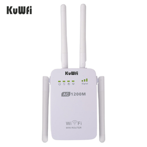 Image 3 - 1200Mbps sans fil Wifi Booster répéteur Extender routeur Point daccès 2.4G/5G double bande avec 4 antennes externes Support WPS