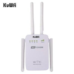 Image 3 - 1200mbps sem fio wifi impulsionador repetidor extensor roteador ponto de acesso 2.4g/5g banda dupla com 4 antenas externas apoio wps