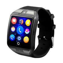 Heißer Verkauf Smart Uhr Q18 Arc Uhr Mit Sim Karte NFC Bluetooth Verbindung für iphone Android Telefon Smartwatch Intelligente uhren