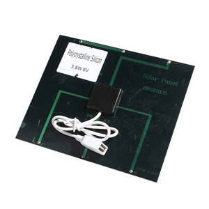 Image 2 - Kebidu แบบพกพา Dual USB ชาร์จแบตเตอรี่พลังงานแสงอาทิตย์ 5V 3.6W 500mA สำหรับ Power Bank พร้อม LED แสงแฟชั่นเดินทาง