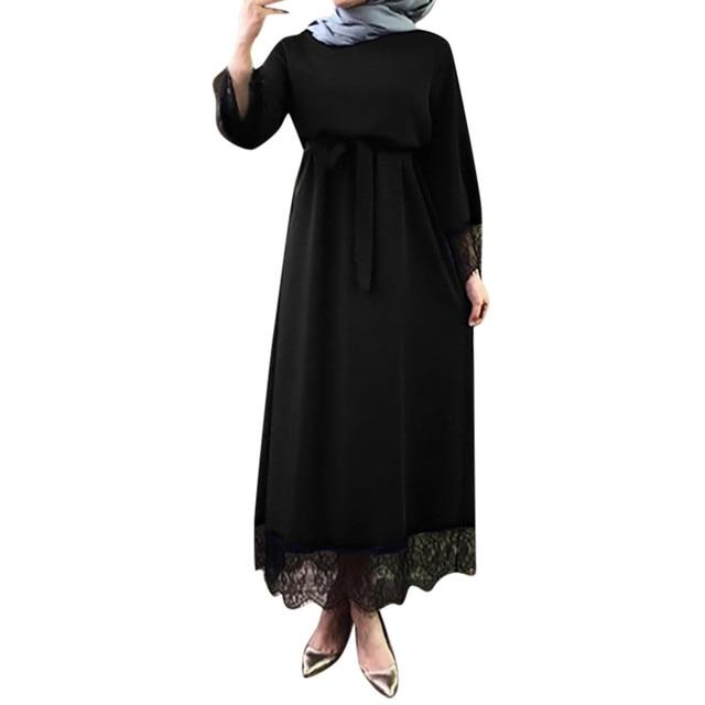 Women muslim dress top abaya ramadan caftan moroccan muslim dress turkish