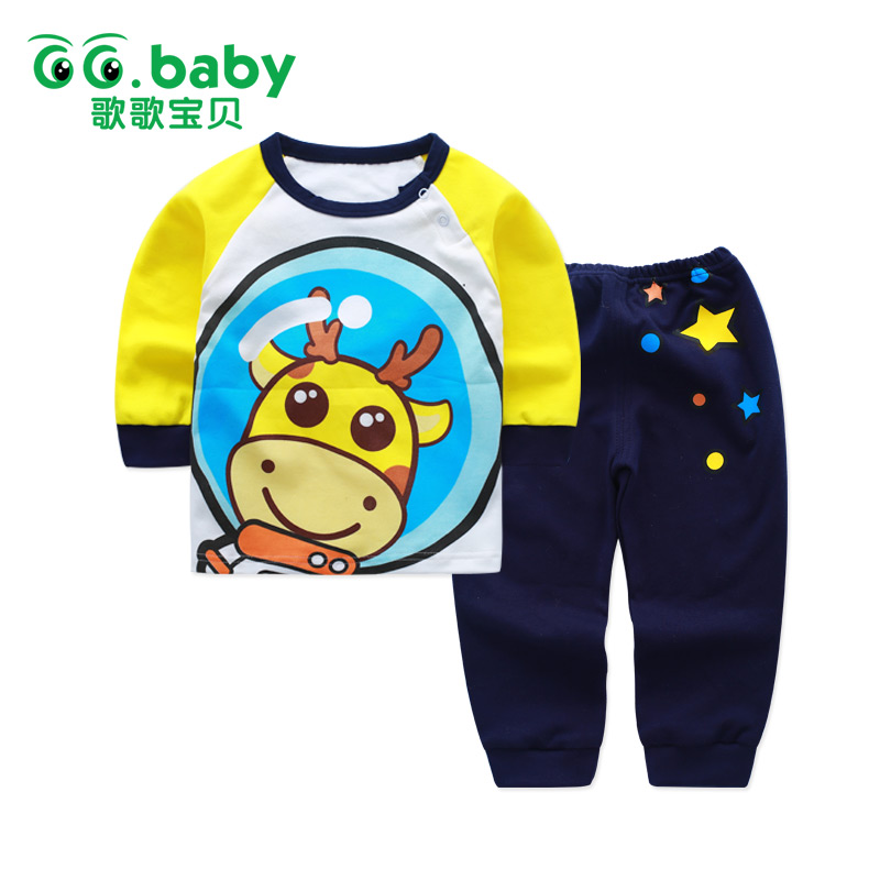 Deer Baby Boys Set Clothes Suit 2017 Kids Sets For Newborns Baby Boy Fashion Outfits Print Stars New Born Baby Girls Clothing 2 piece set new sport suit for boys cotton baby boy clothing sets hooded kids clothes set long suit boys clothes tracksuit tz001