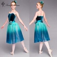 Child Ballet stage dance costume girls Contemporary&Lyrica green romantic ballet  tutu dress BL0016
